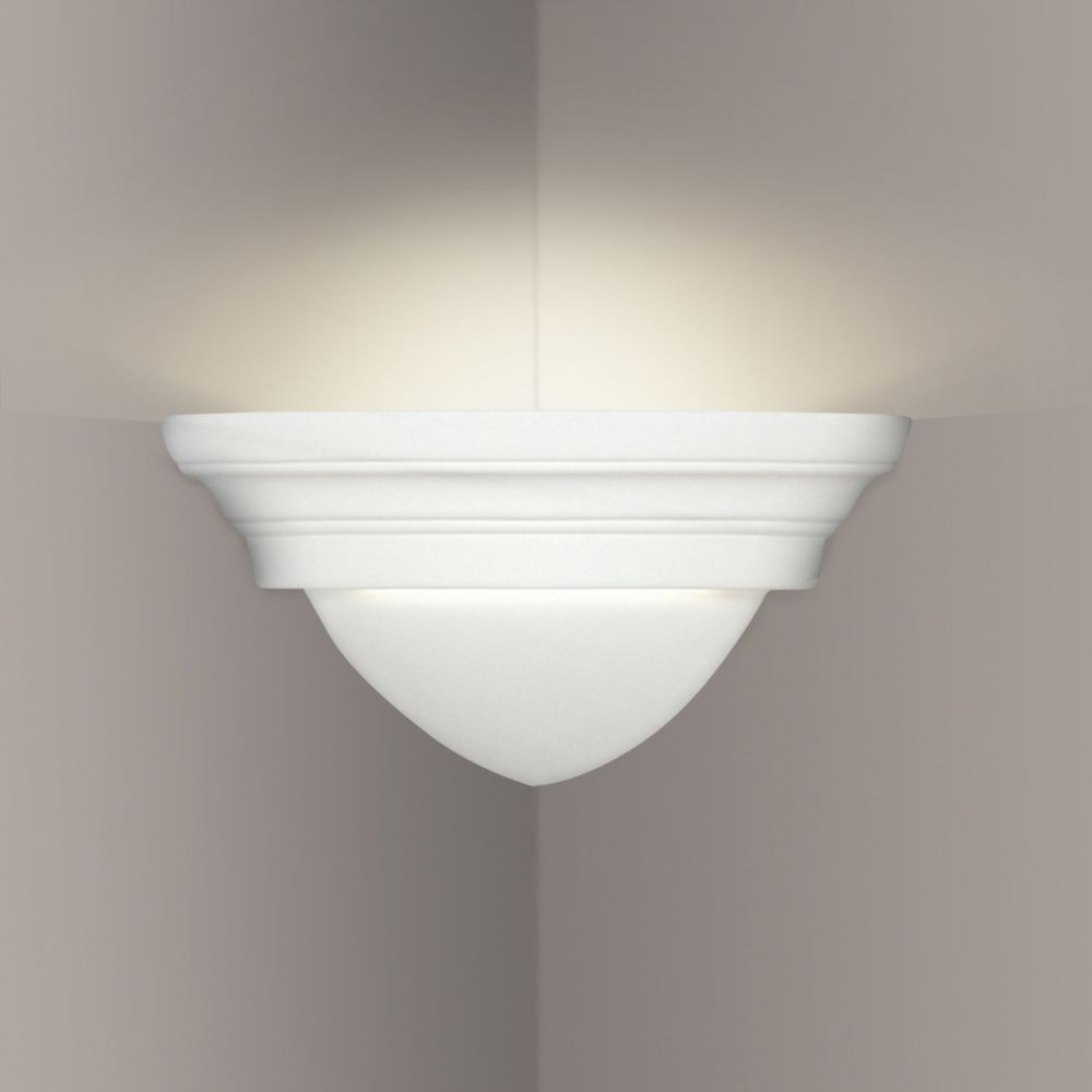 A19 Lighting- 102CNR - Majorca Corner Sconce in Bisque