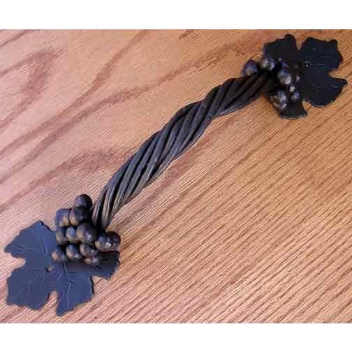 Agave Ironworks PU040-02 Small Grapevine Pull in Brown Rust