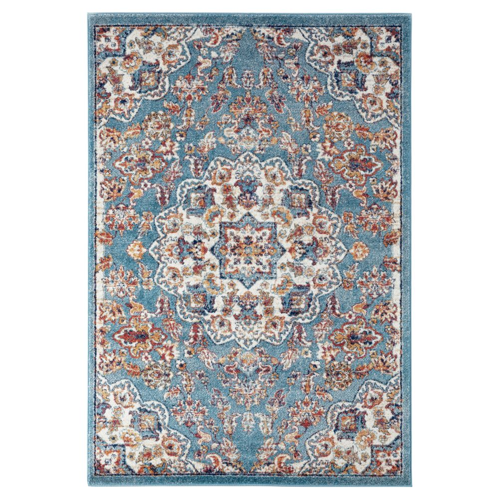 Amer Rugs ALX-81 Alexandria Transitional Sea Blue Power-Loomed Rug 2