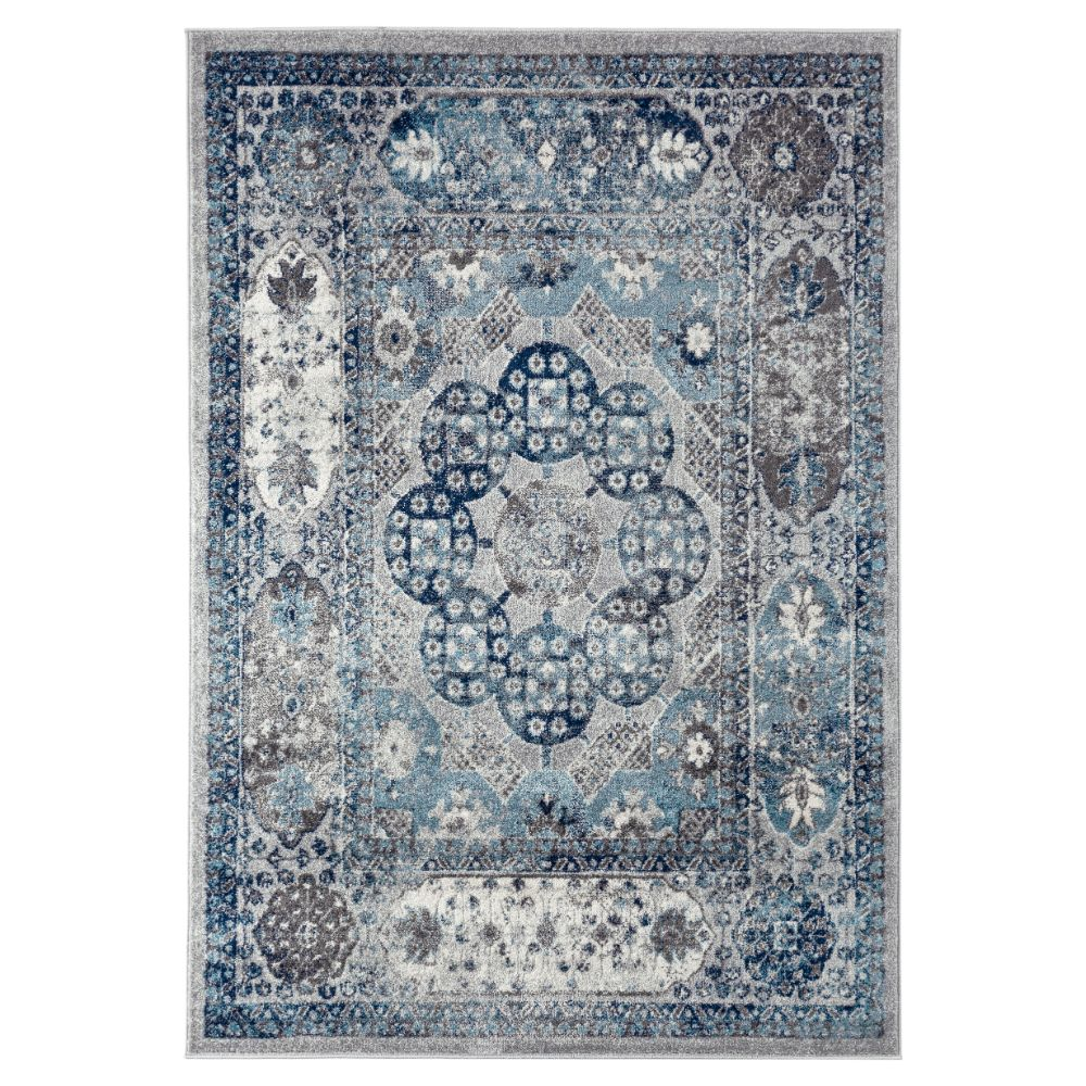 Amer Rugs ALX-83 Alexandria Transitional Gray Power-Loomed Rug 2