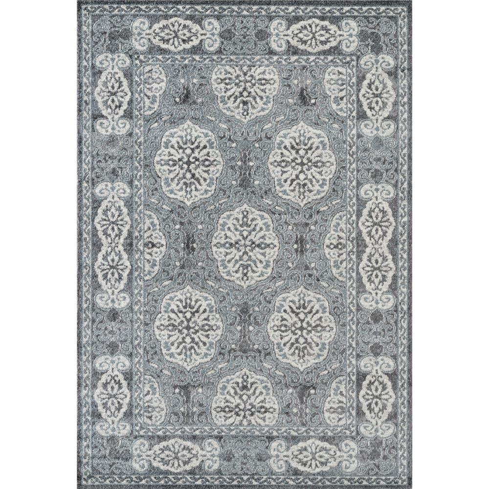 Amer Rugs ALX-10 Alexandria 10 Steel Blue Power-Loomed Area Rug 2
