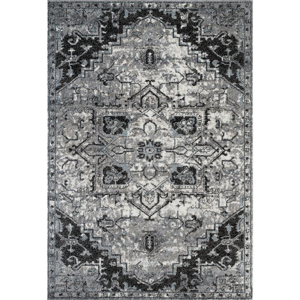 Amer Rugs ALX-49 Alexandria 49 Dark Gray Power-Loomed Area Rug 2