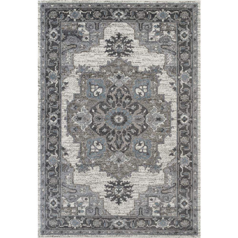 Amer Rugs ALX-51 Alexandria 51 Light Gray Power-Loomed Area Rug 2