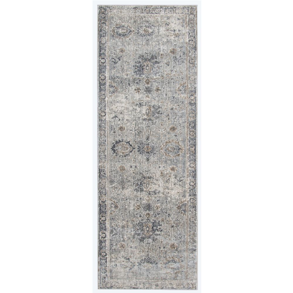 AMER Rugs FAI22 Fairmont Transitional Gray Power-Loomed Runner Rug 2