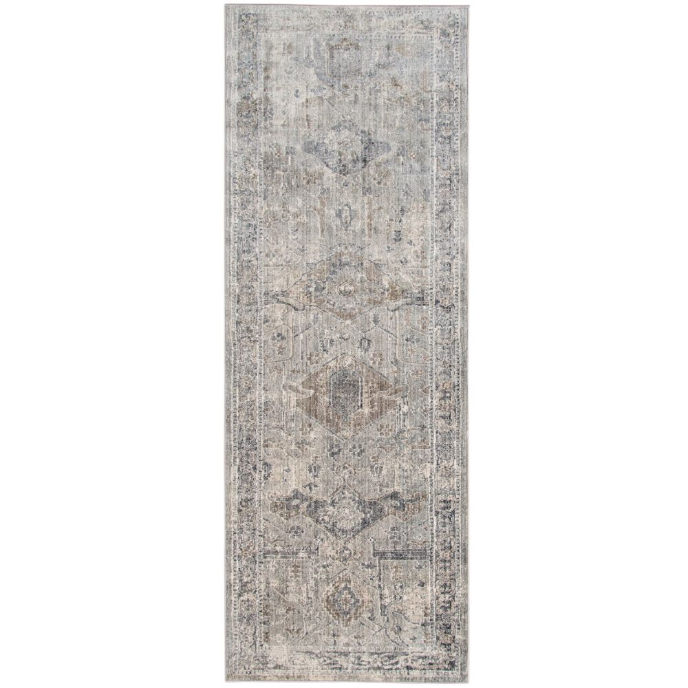 AMER Rugs FAI42 Fairmont Transitional Slate Power-Loomed Runner Rug 2