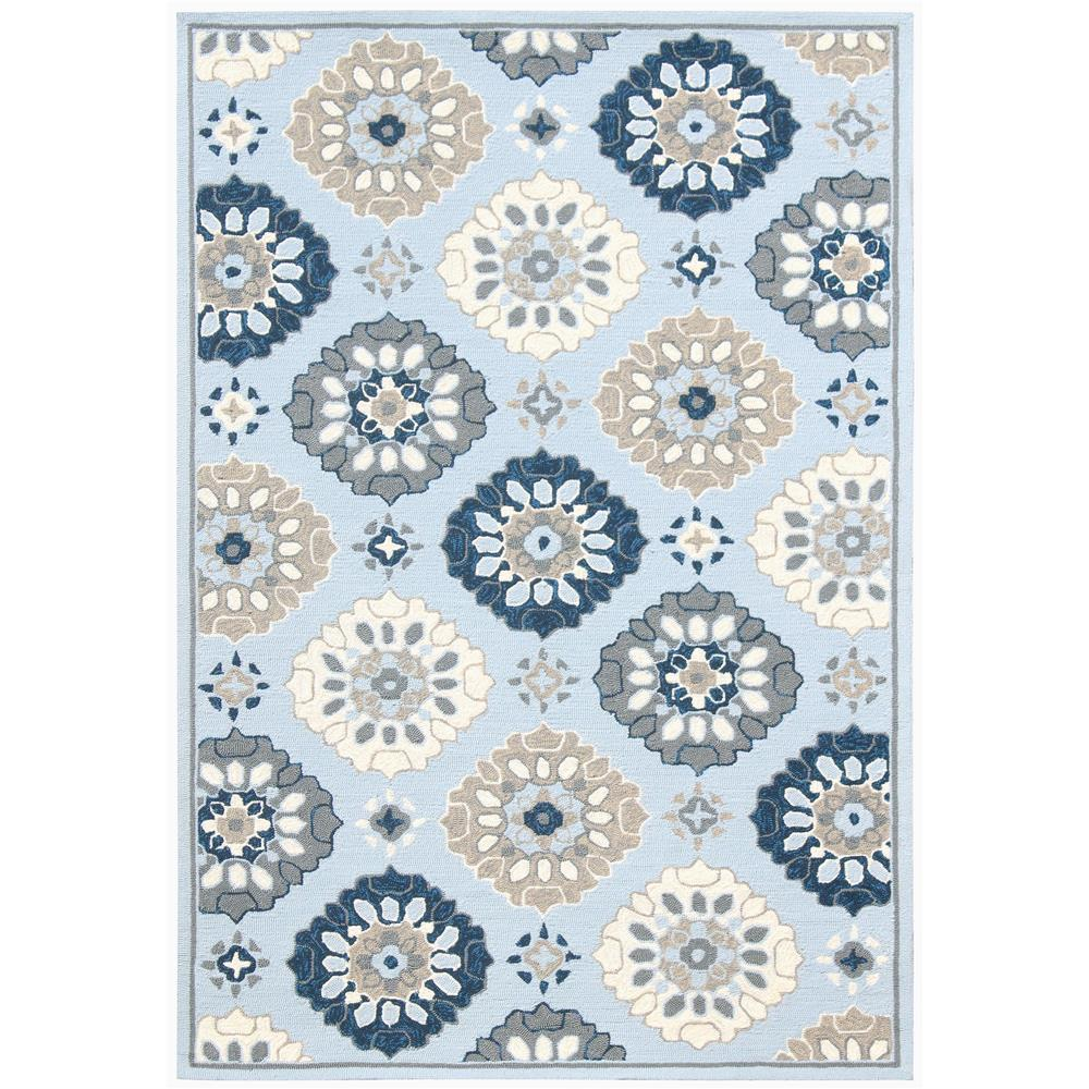 Amer Rugs PAZ-55 Piazza Modern Ice Blue Multi-Purpose Rug 2