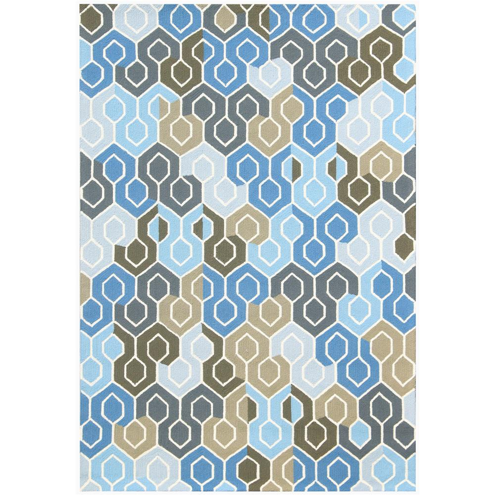 Amer Rugs PAZ-76 Piazza Modern Gray Beige Multi-Purpose Rug 2