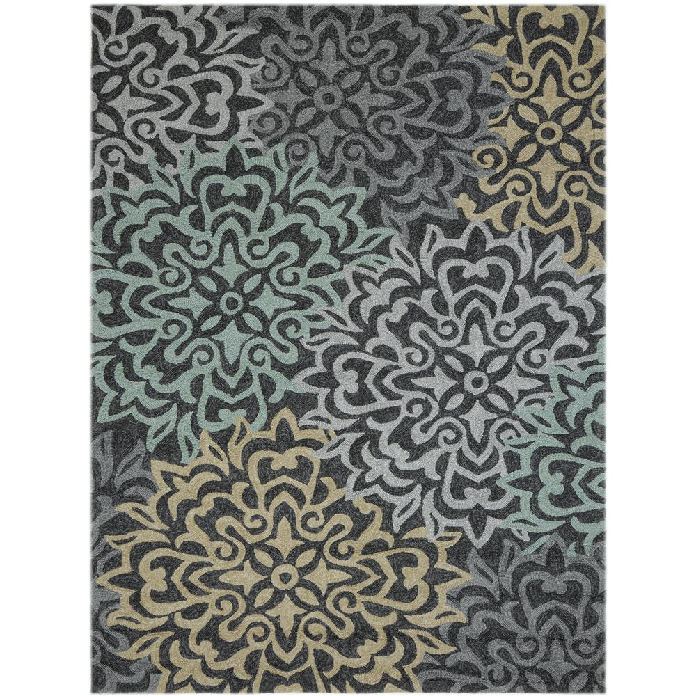 Amer Rugs PAZ220406 PIAZZA Modern Design Multi-Purpose Rug in Charcoal