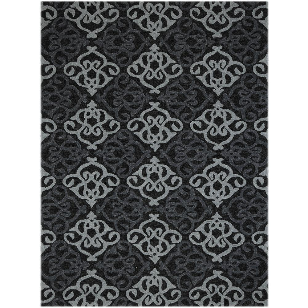 Amer Rugs PAZ250203 PIAZZA Modern Design Multi-Purpose Rug in Ebony