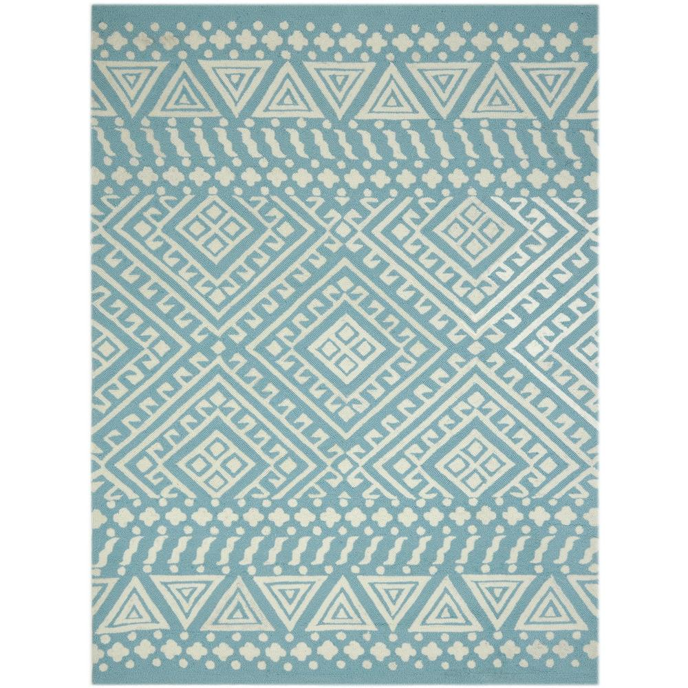 Amer Rugs PAZ340203 PIAZZA Modern Design Multi-Purpose Rug in Aqua