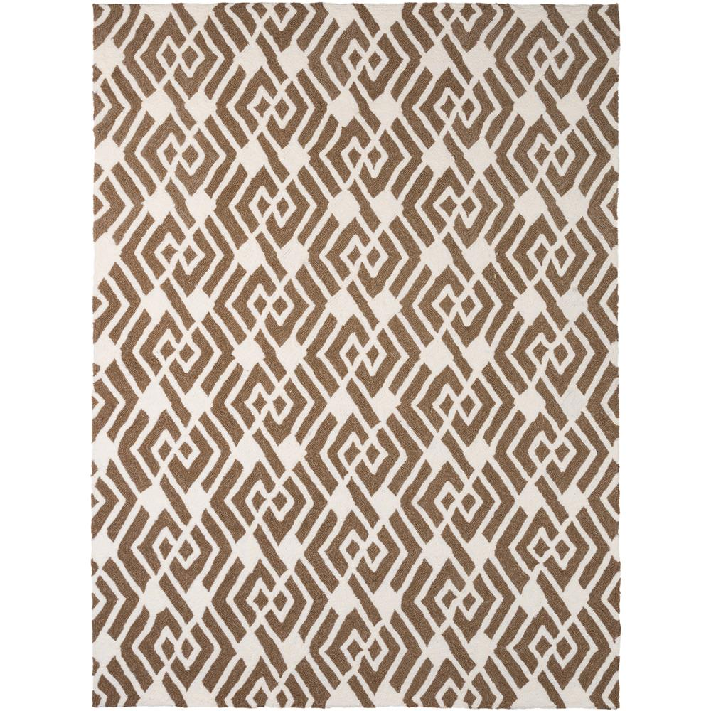 Amer Rugs PAZ470406 Piazza Modern Design Multi-Purpose Rug in Mocha Brown