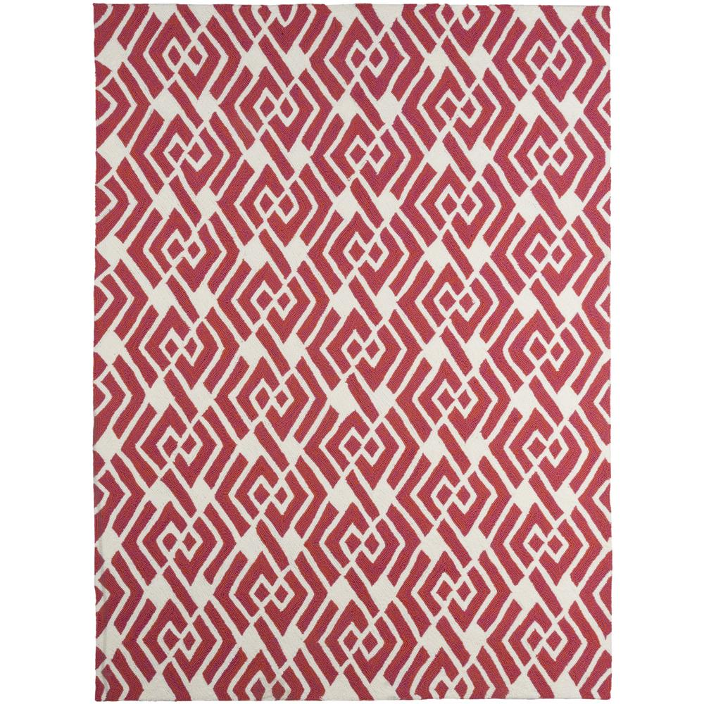 Amer Rugs PAZ490406 Piazza Modern Design Multi-Purpose Rug in Coral Pink