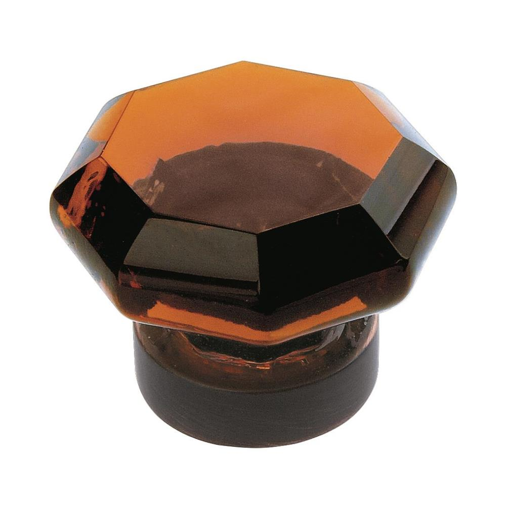 Amerock BP55266AORB Traditional Classics 1-1/16 in (27 mm) DIA Cabinet Knob - Amber/Oil-Rubbed Bronze