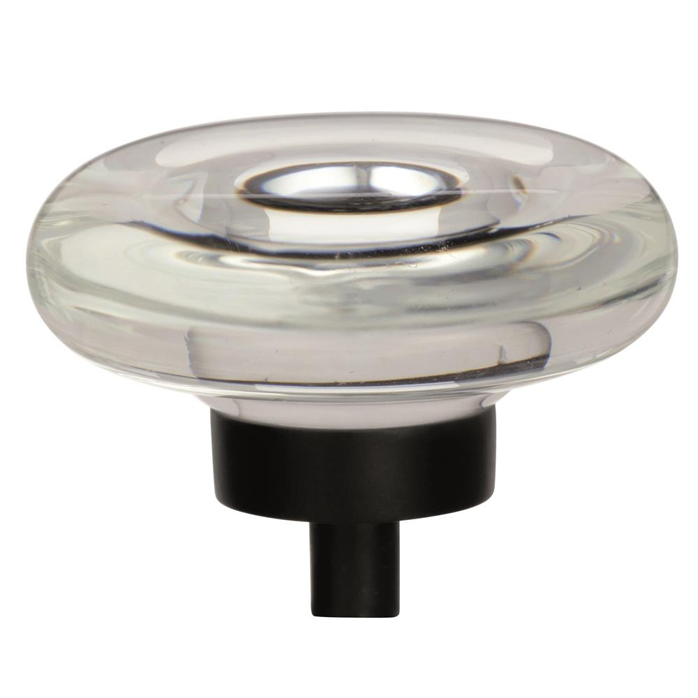 Best of Amerock BP36652CBBR Glacio 1-3/4 in (44 mm) Diameter Clear/Black Bronze Cabinet Knob