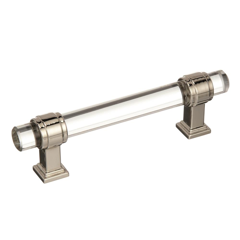 Best of Amerock BP36654CPN Glacio  3-3/4 in (96 mm) Center-to-Center Clear/Polished Nickel  Cabinet Pull
