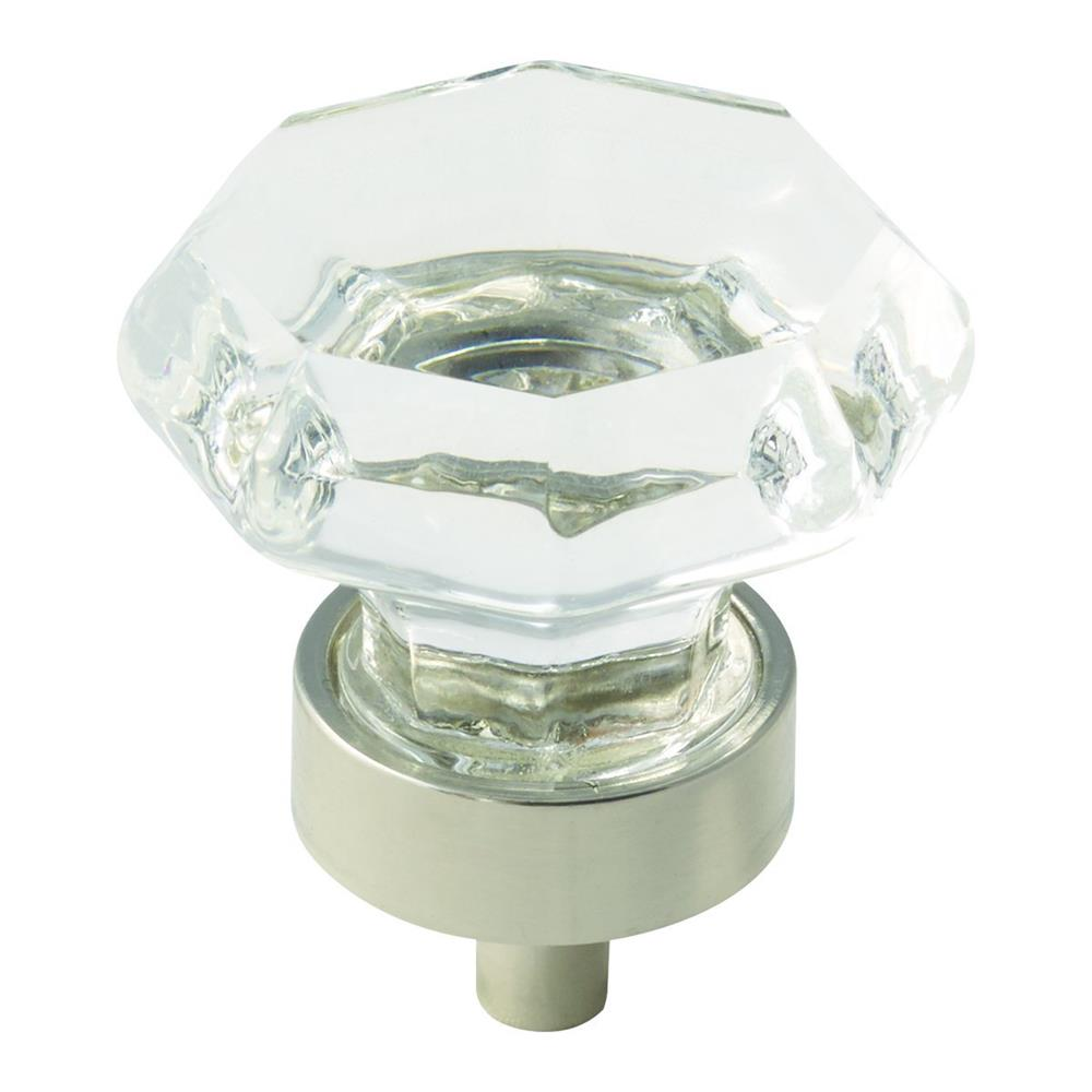 Amerock BP55268CPN Traditional Classics Knob in Clear/Polished Nickel