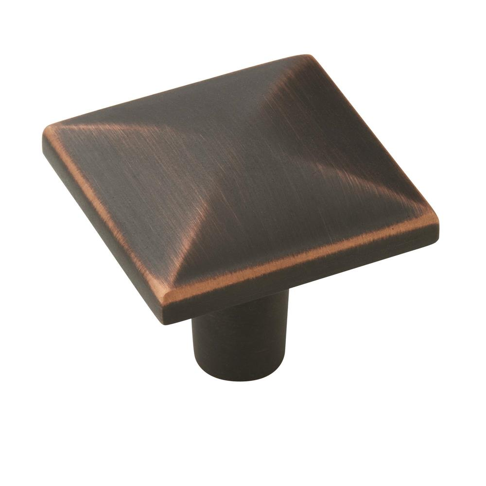Amerock 10BX29370ORB Extensity 1-1/8 in (29 mm) Length Oil-Rubbed Bronze Cabinet Knob - 10 Pack