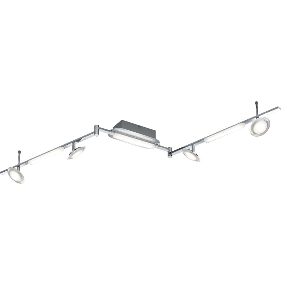 Arnsberg 878510707 Santiago LED Adjustable Ceiling Light in Satin Nickel