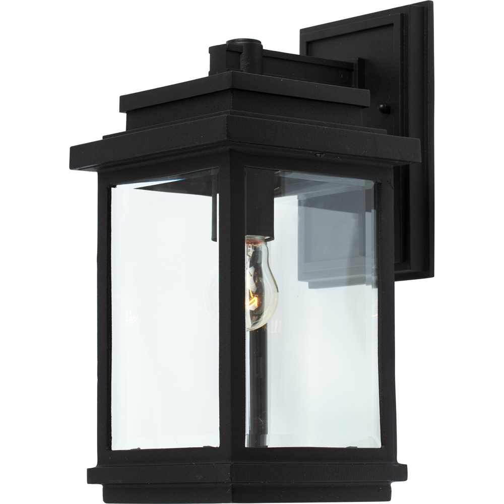 Artcraft Lighting AC8290BK Fremont 1 Light Outdoor Wall Light in Black