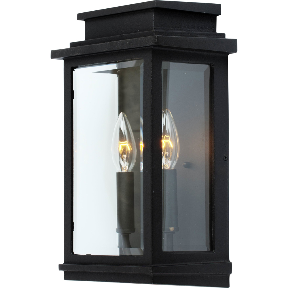 Artcraft Lighting AC8391BK Fremont 2 Light Outdoor Wall Light in Black
