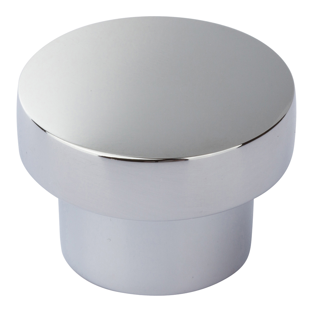 Atlas Homewares A912-CH CHUNKY ROUND KNOB MEDIUM  IN CHROME