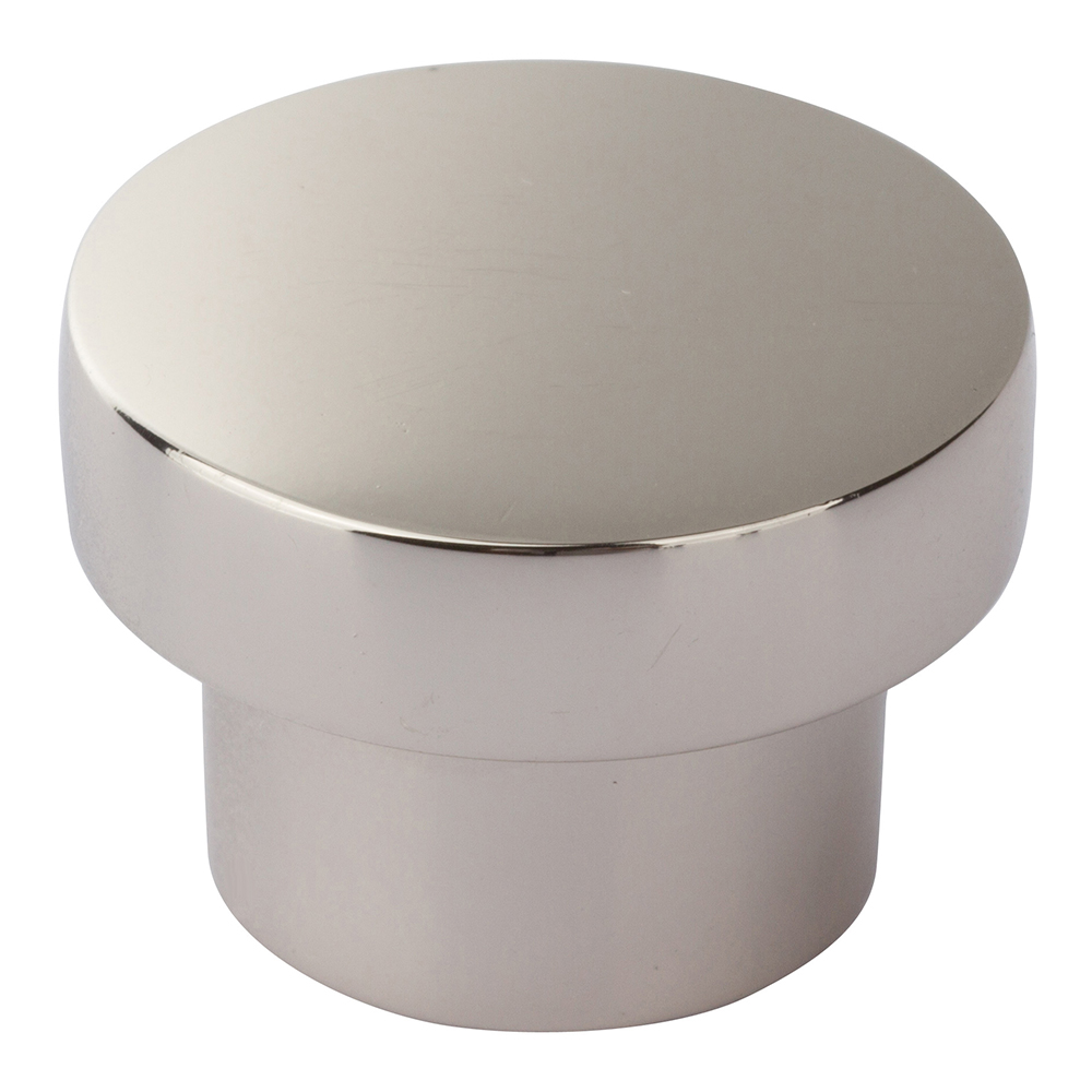 Atlas Homewares A912-PN CHUNKY ROUND KNOB MEDIUM  IN POLISHED NICKEL
