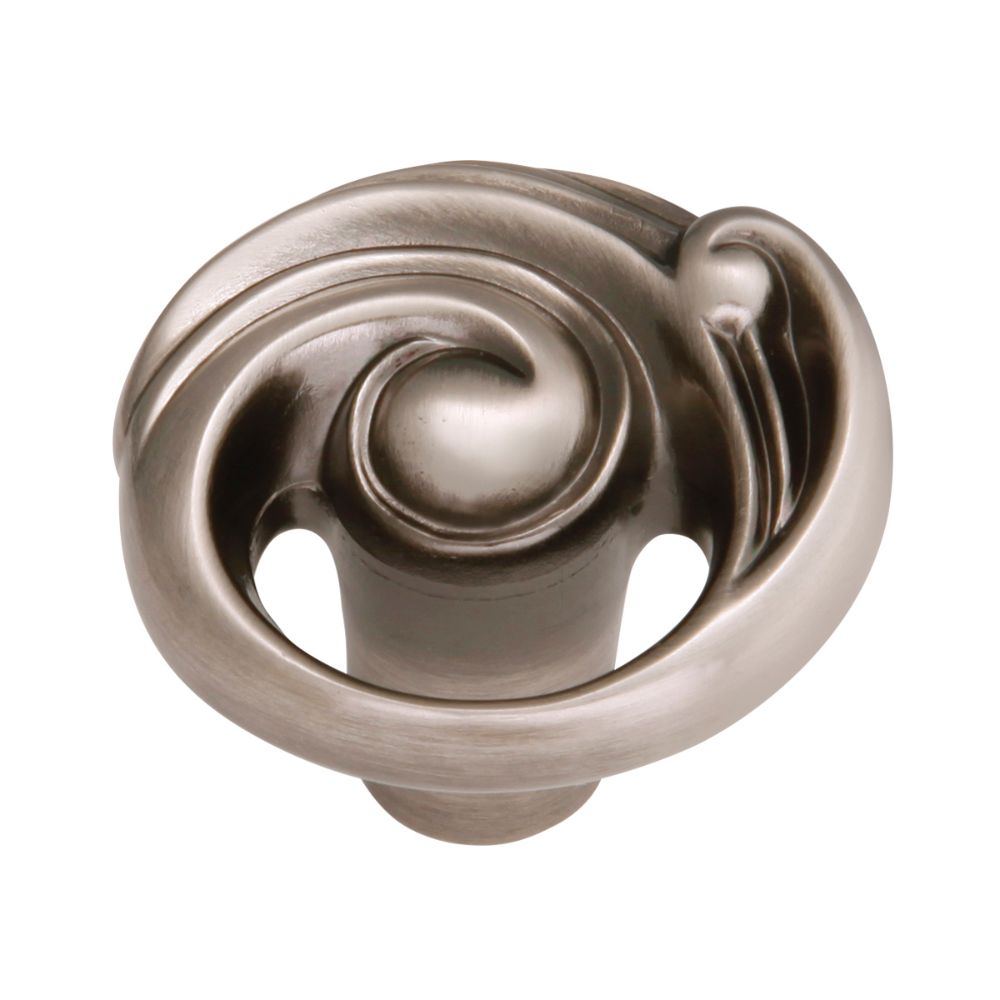Belwith-Keeler B072433-ANN Amaranta Collection Knob 1-1/2 Inch Diameter Antique Nickel Finish