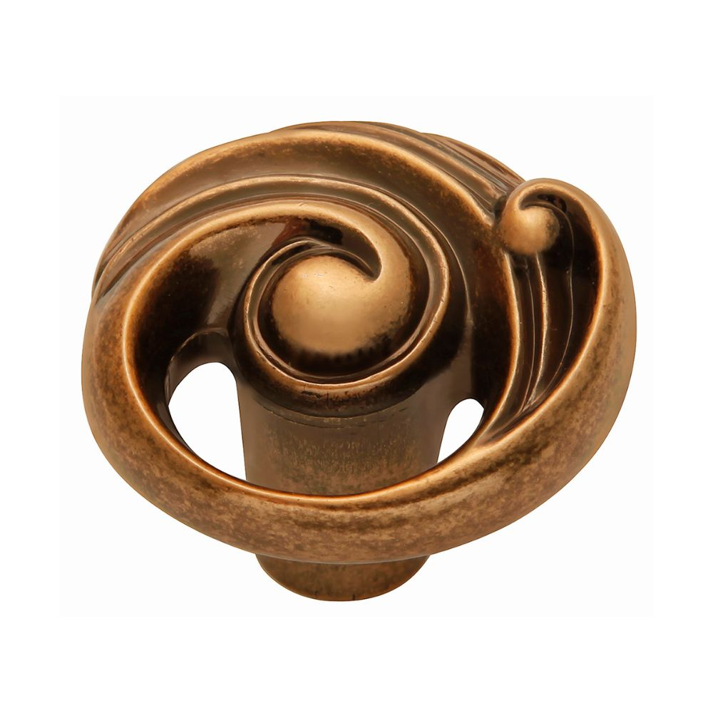 Belwith-Keeler B072433-ARG Amaranta Collection Knob 1-1/2 Inch Diameter Antique Rose Gold Finish