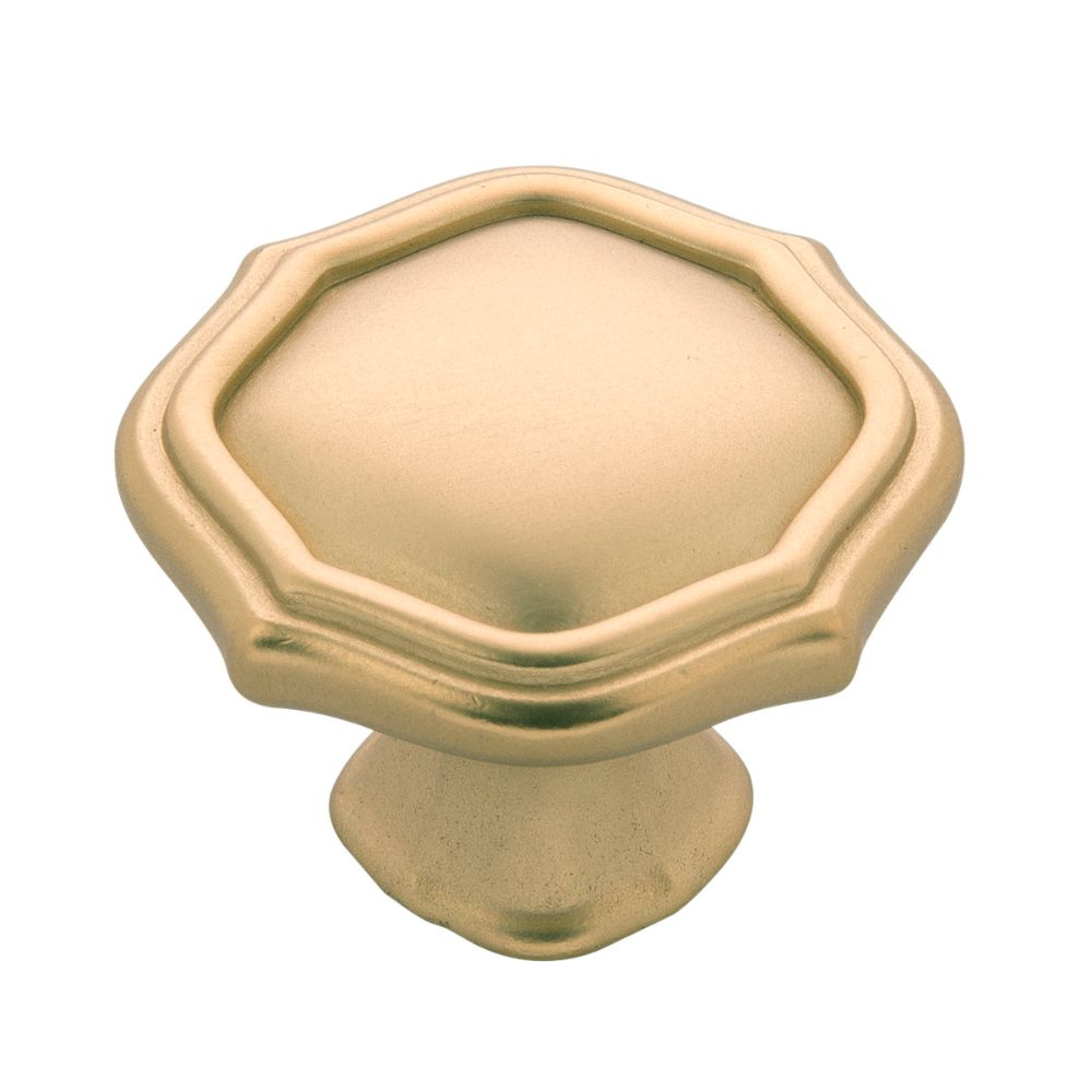 Belwith-Keeler B076137-FUB Trellis Collection Knob 1-1/2 Inch Diameter Flat Ultra Brass Finish