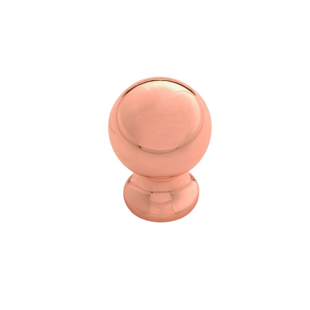 Belwith-Keeler B076288-CP Fuller Collection Knob 1 Inch Diameter Polished Copper Finish