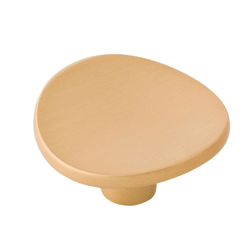 Belwith-Keeler B076526-BGB Vale Collection Knob 1-3/4 Inch Diameter Brushed Golden Brass Finish