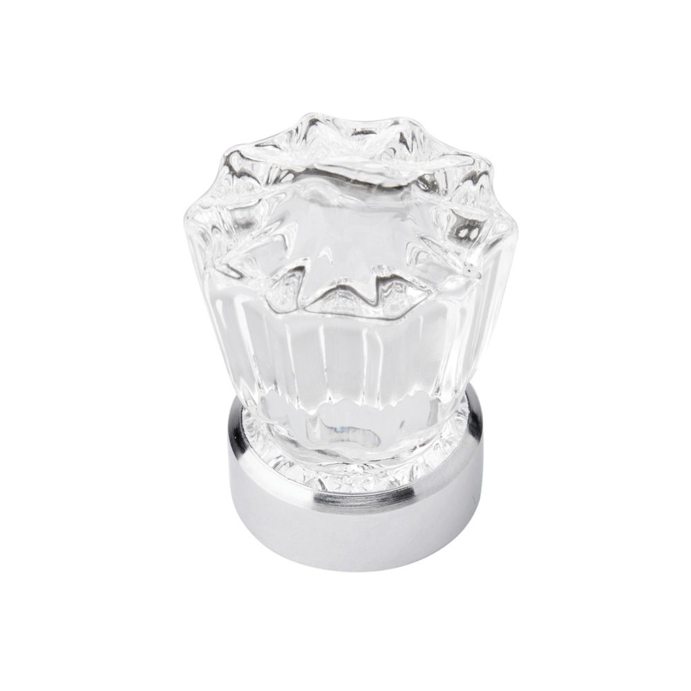 Belwith-Keeler B076569-GLCH Luster Collection Knob 1-3/8 Inch Diameter Glass with Chrome Finish