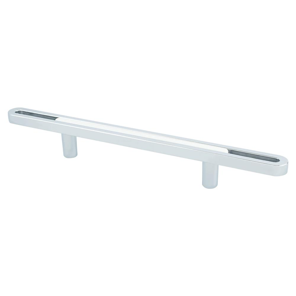 R. Christensen by Berenson Hardware 9745-1000-P Pull 96Mm Polished Chrome And White