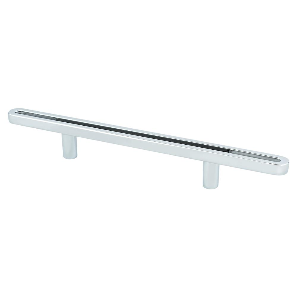 R. Christensen by Berenson Hardware 9746-1000-P Pull 96Mm Polished Chrome And Black