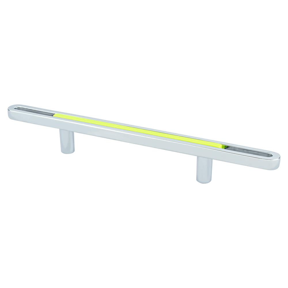 R. Christensen by Berenson Hardware 9747-1000-P Pull 96Mm Polished Chrome And Lime