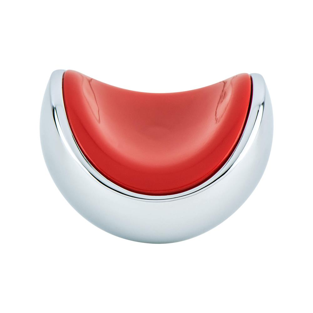R. Christensen by Berenson Hardware 9774-1000-P Knob 40Mm Polished Chrome And Red
