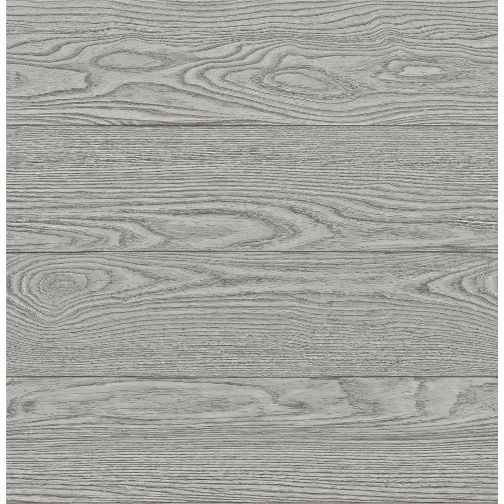 A-Street Prints by Brewster 2540-24027 Restored Salvaged Wood Grey Plank Wallpaper