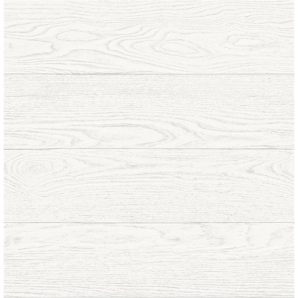 A-Street Prints by Brewster 2540-24030 Restored Salvaged Wood White Plank Wallpaper