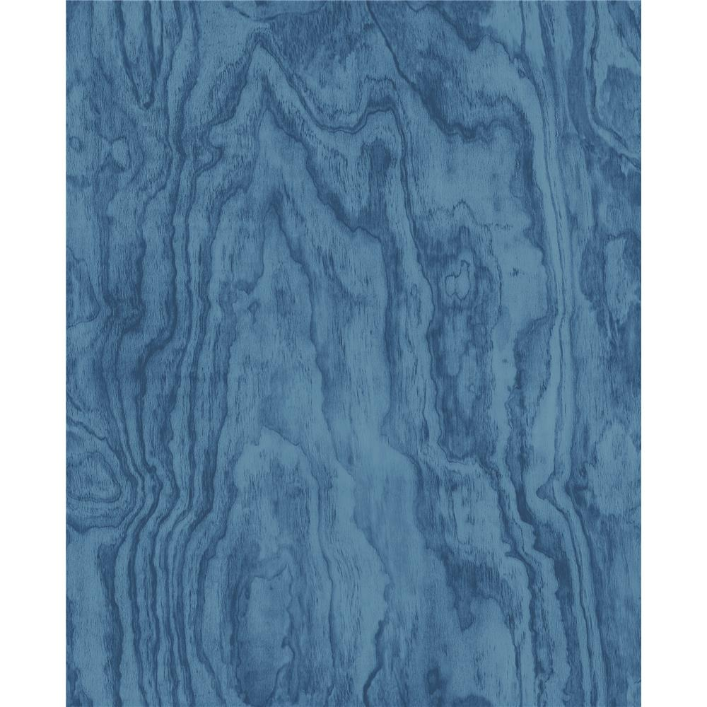 A-Street Prints by Brewster 2540-24041 Restored Bentham Blue Plywood Wallpaper