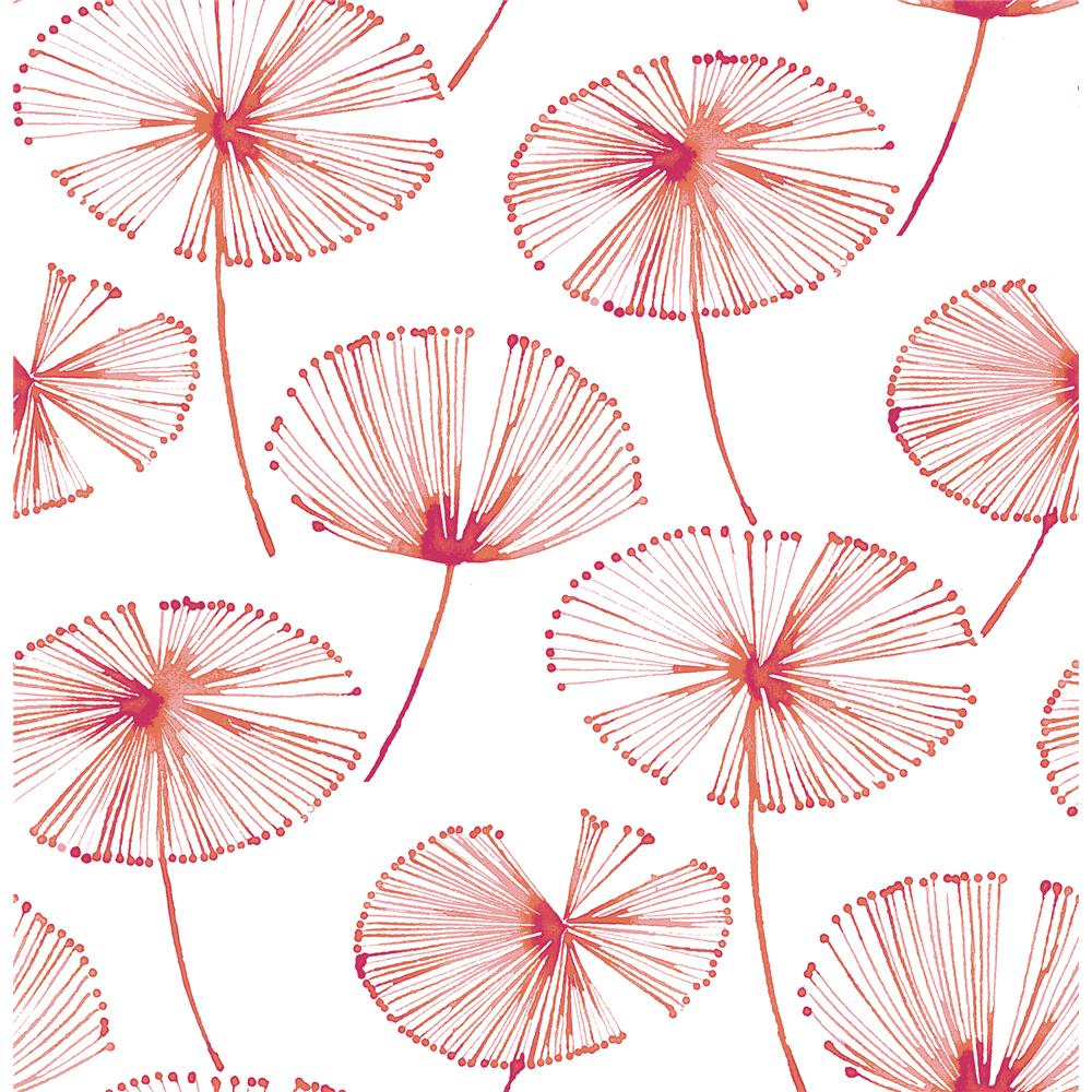 A-Street Prints by Brewster 2656-004006 Paradise Pink Fronds