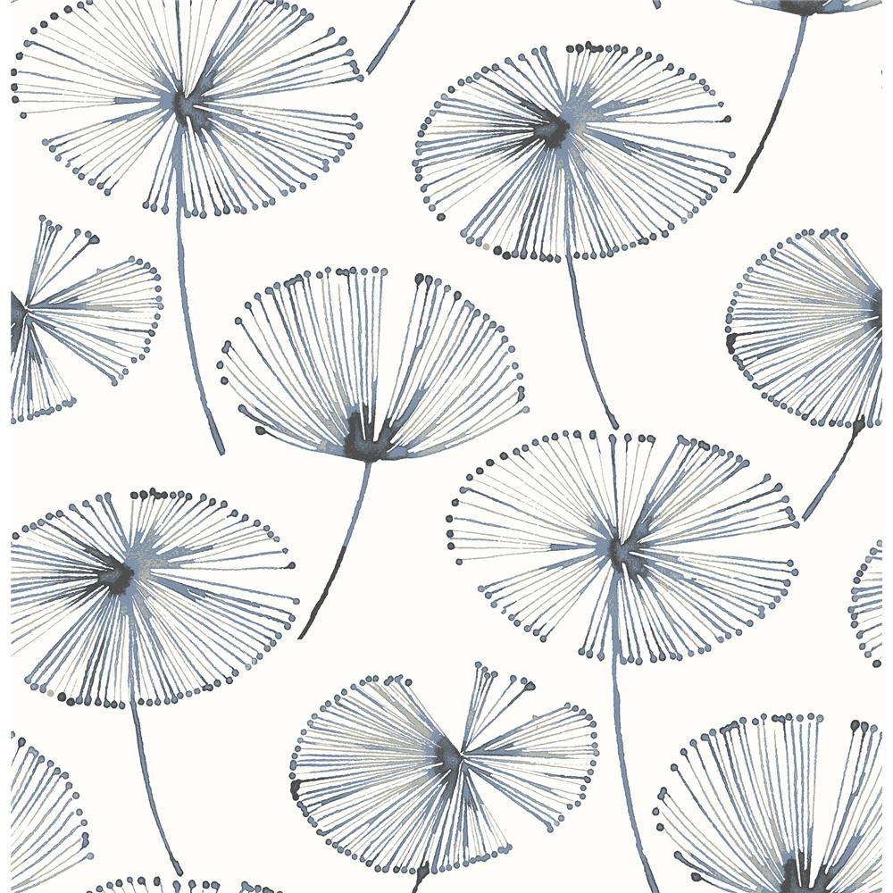 A-Street Prints by Brewster 2656-004025 Paradise Navy Fronds
