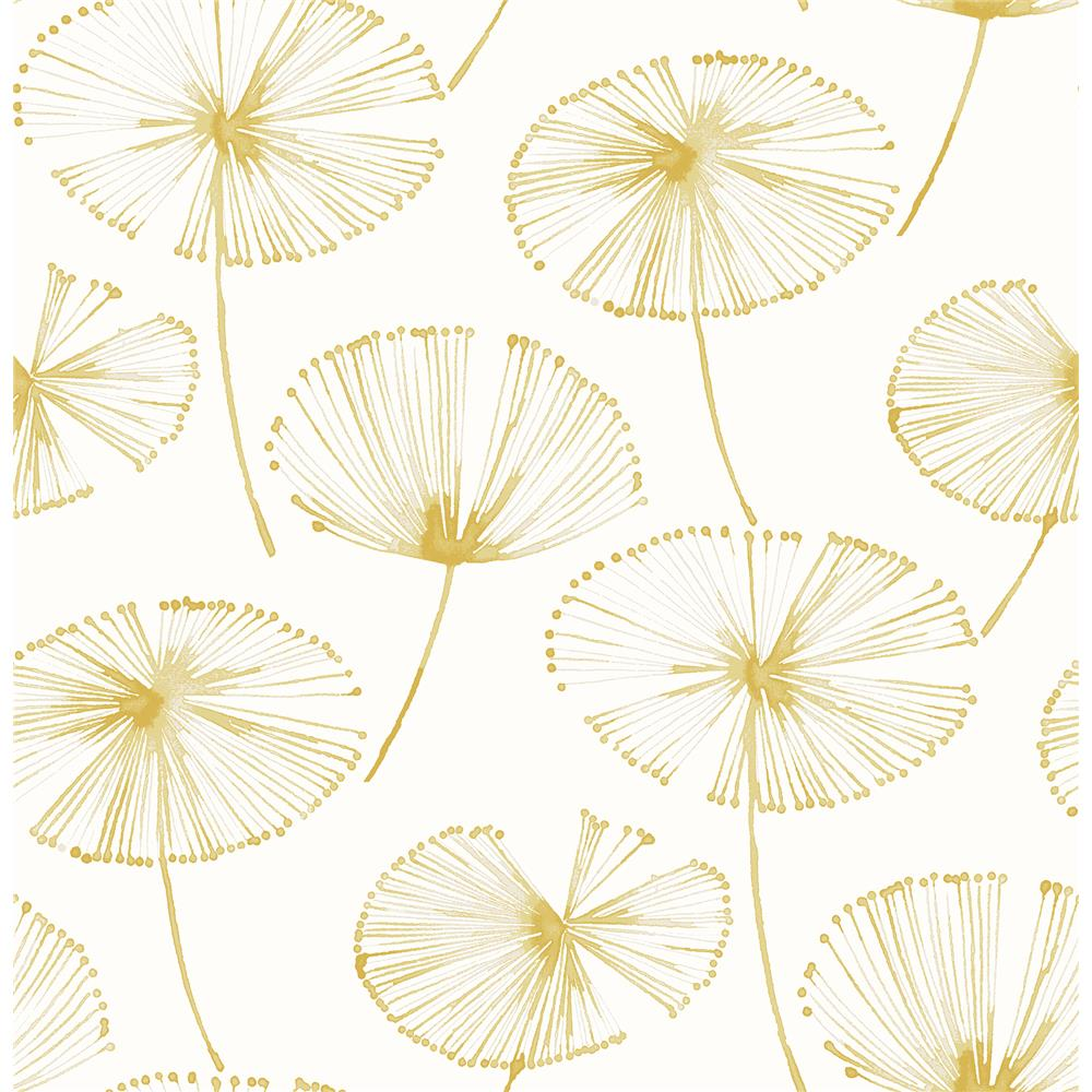 A-Street Prints by Brewster 2656-004026 Paradise Gold Fronds