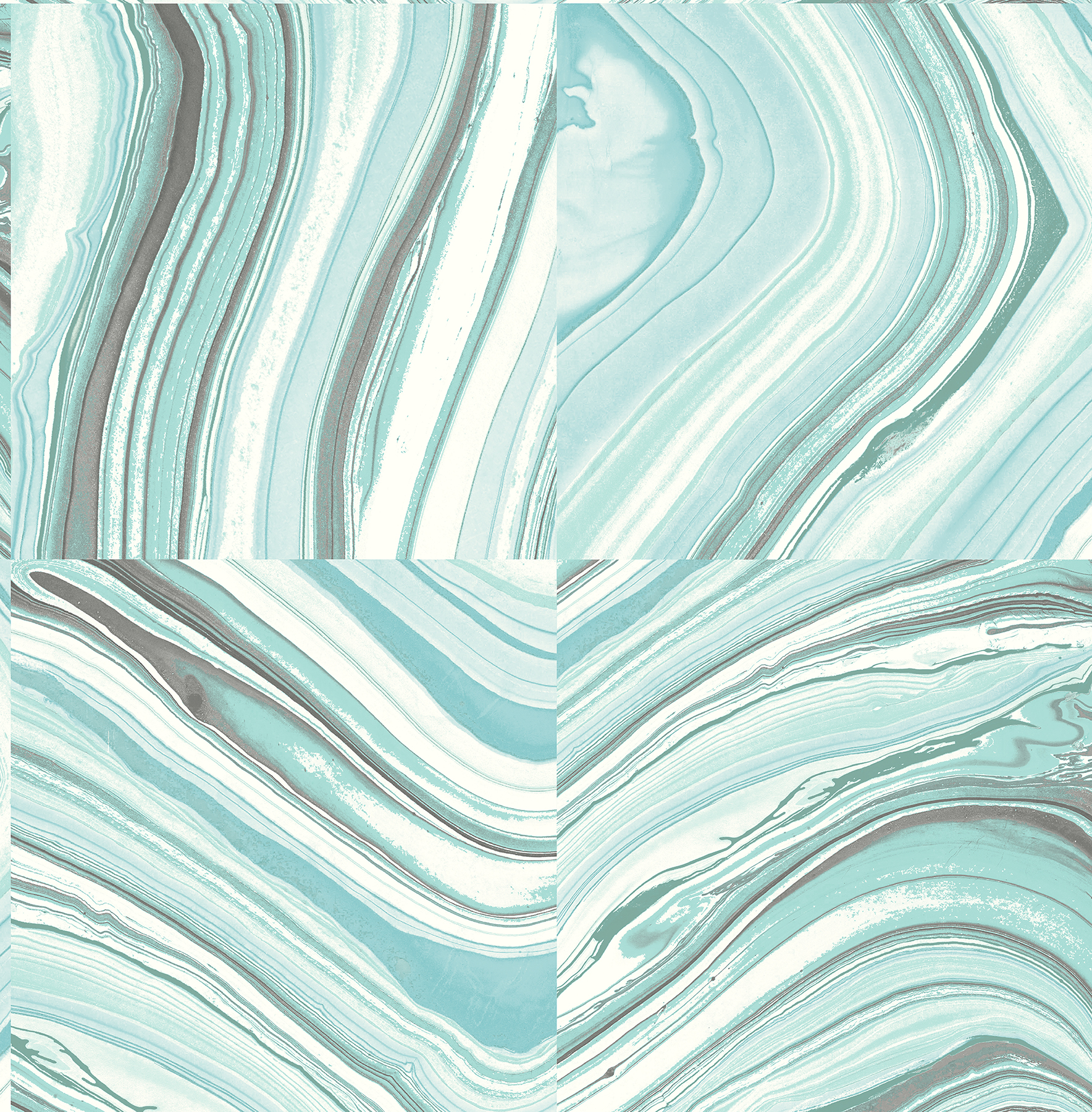 Kenneth James by Brewster 2671-22401 Agate Aqua Stone Wallpaper