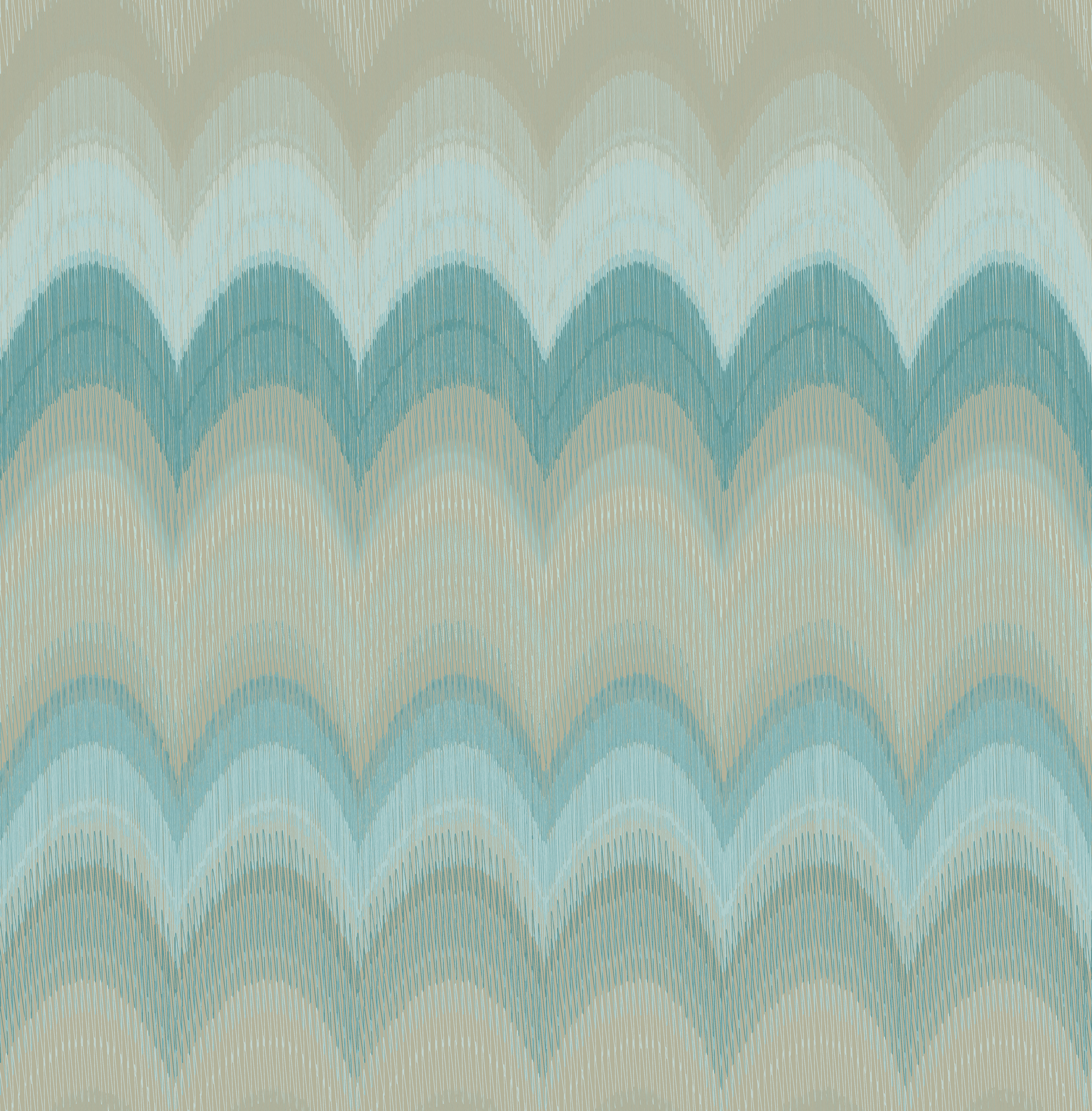 Kenneth James by Brewster 2671-22408 August Teal Wave Wallpaper