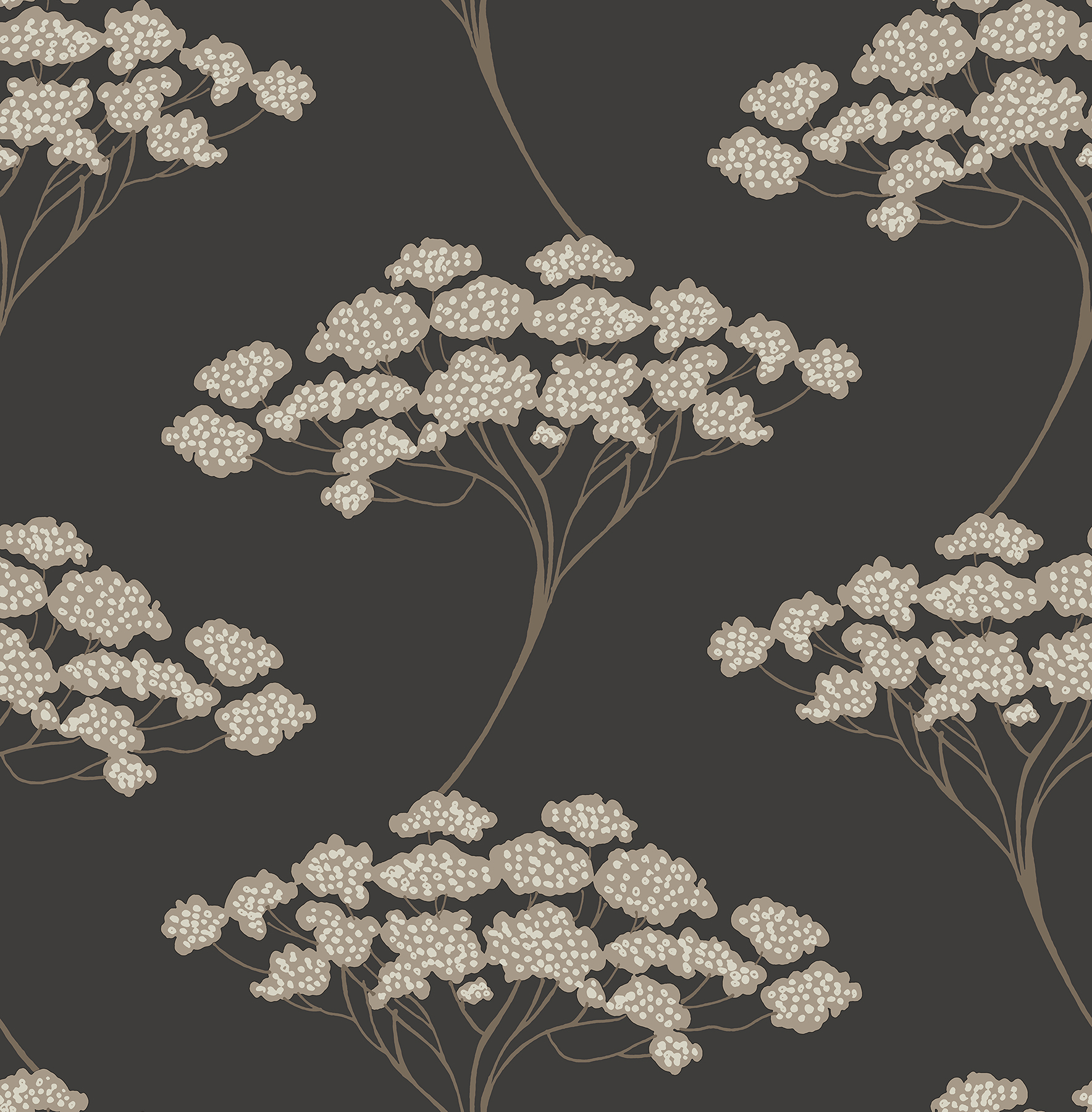 Kenneth James by Brewster 2671-22411 Banyan Black Tree Wallpaper