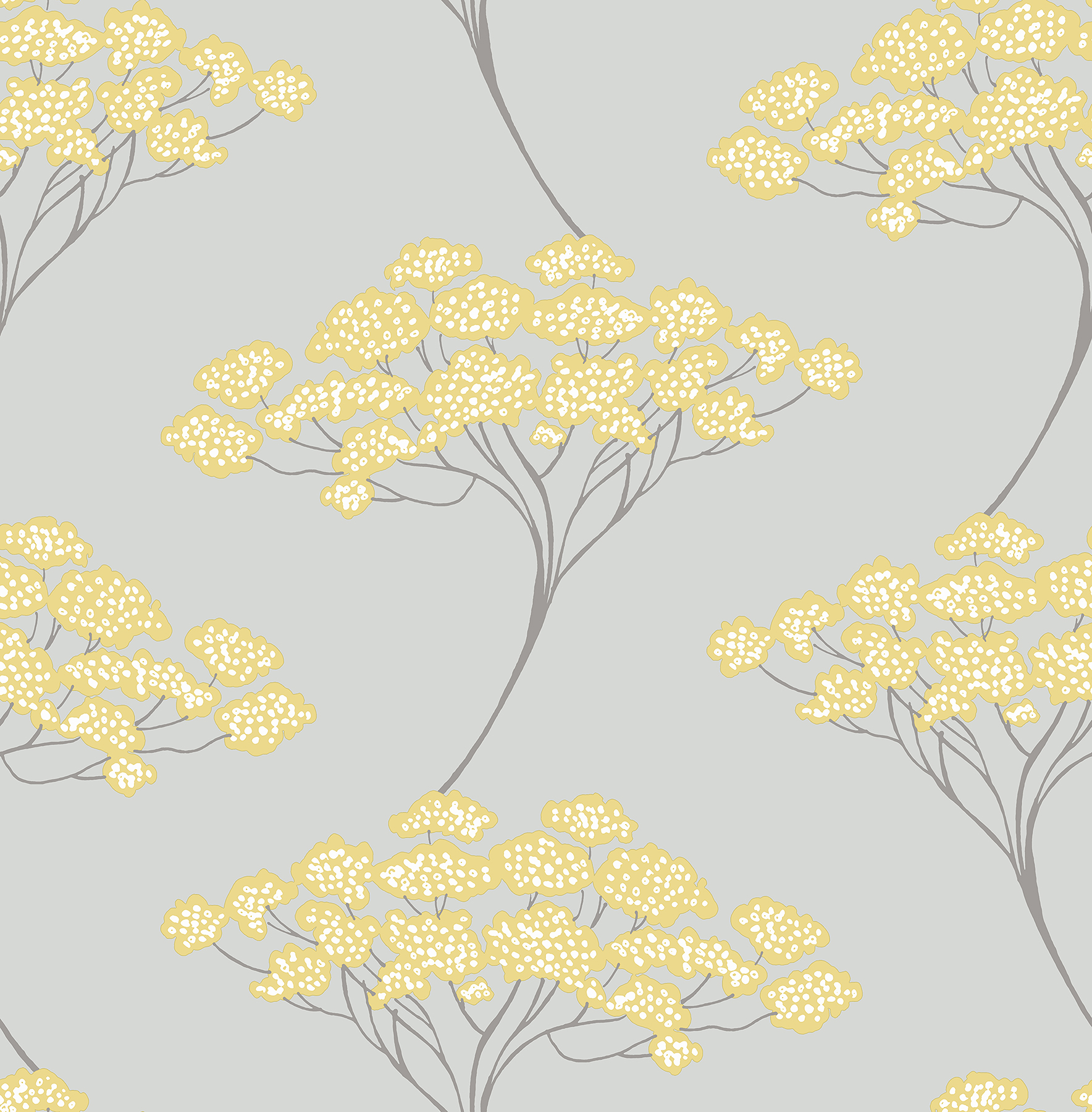 Kenneth James by Brewster 2671-22412 Banyan Grey Tree Wallpaper