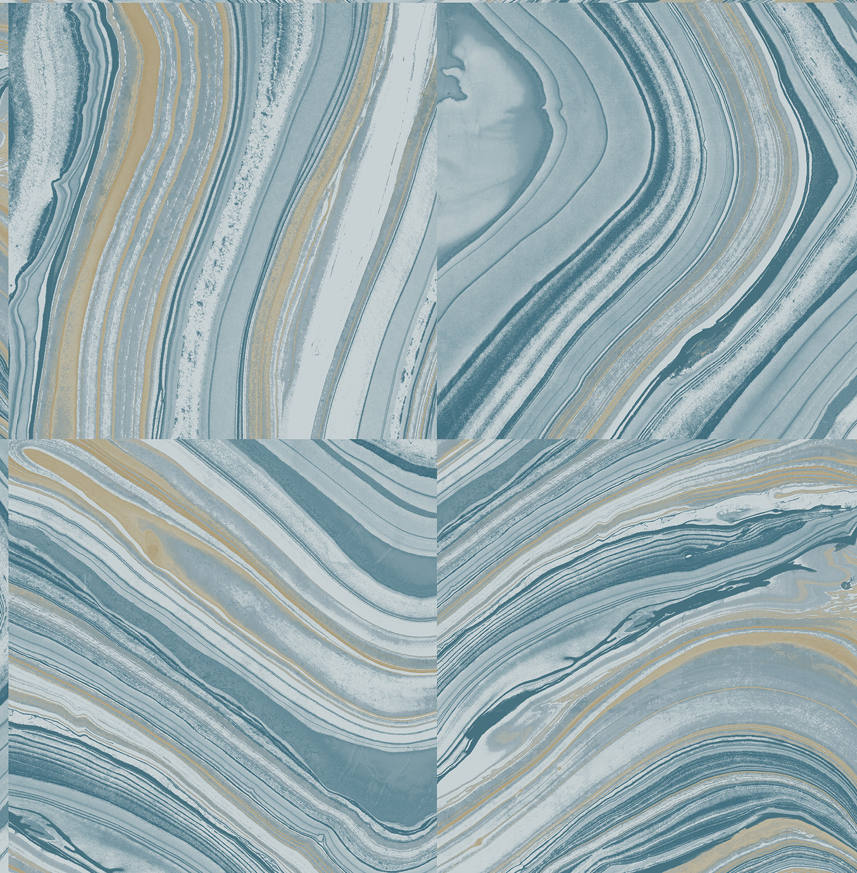 Kenneth James by Brewster 2671-22440 Agate Blue Stone Wallpaper