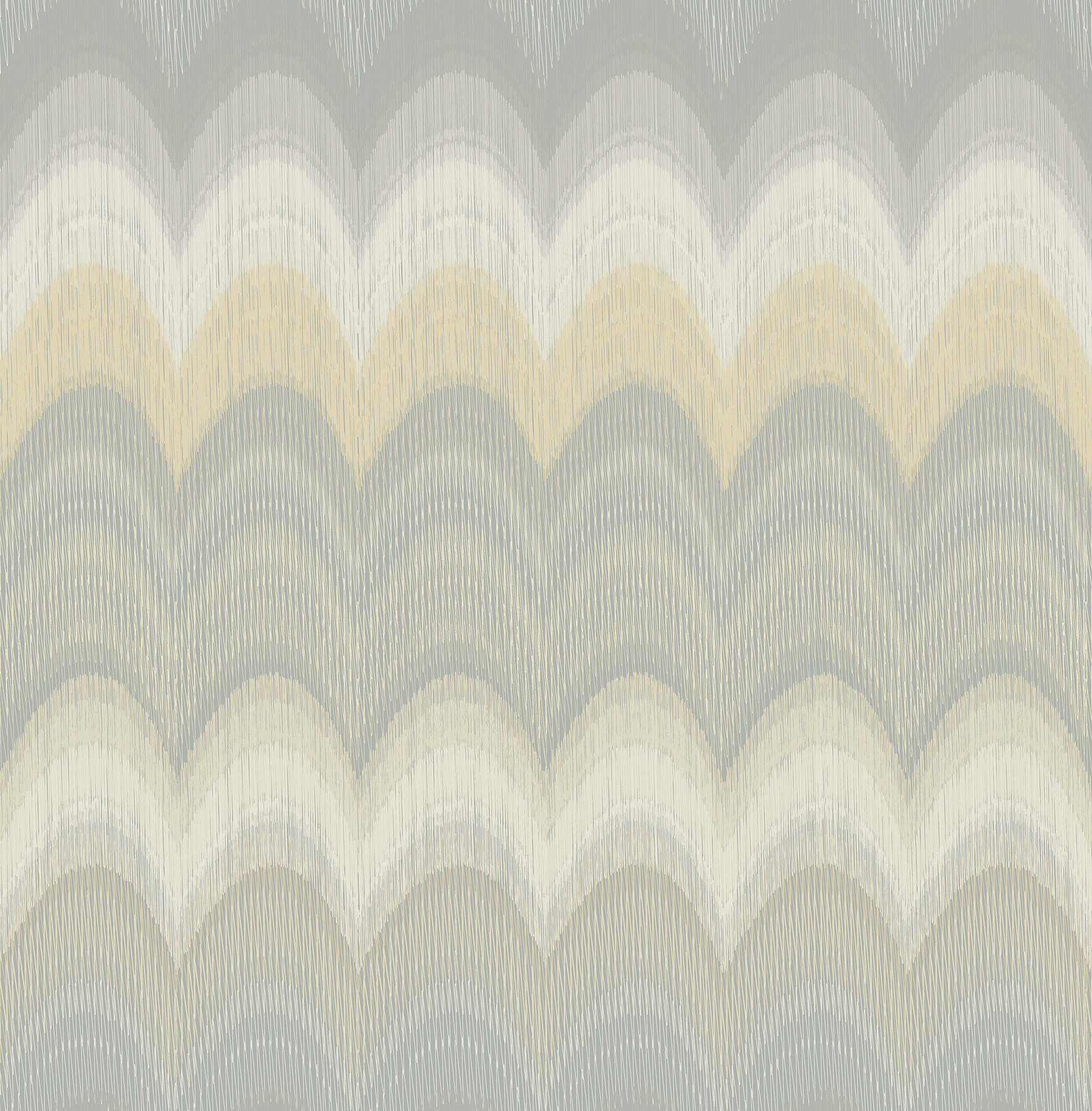 Kenneth James by Brewster 2671-22444 August Yellow Wave Wallpaper