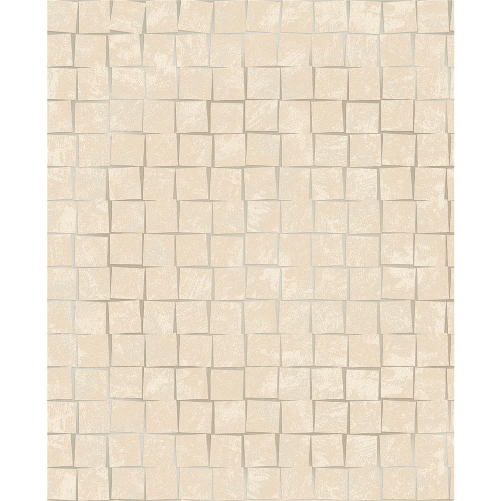Decorline by Brewster 2683-23002 Cubist Taupe Geometric Wallpaper