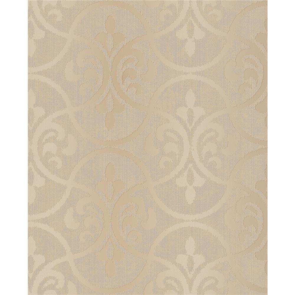 Decorline by Brewster 2683-23006 Interlude Taupe Ogee Wallpaper